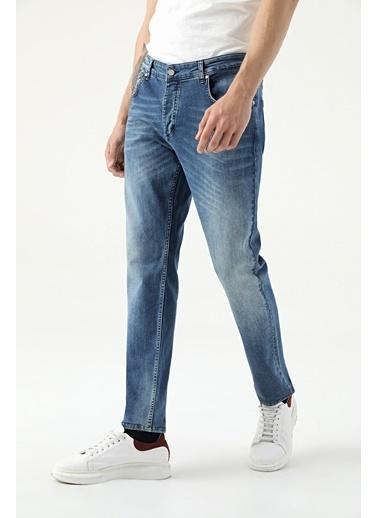 Damat Slim Fit  Denim Pantolon İndigo